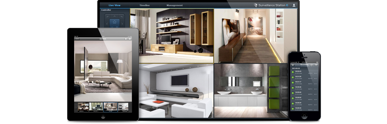 DS216j pełni rolę centrum domowego monitoringu