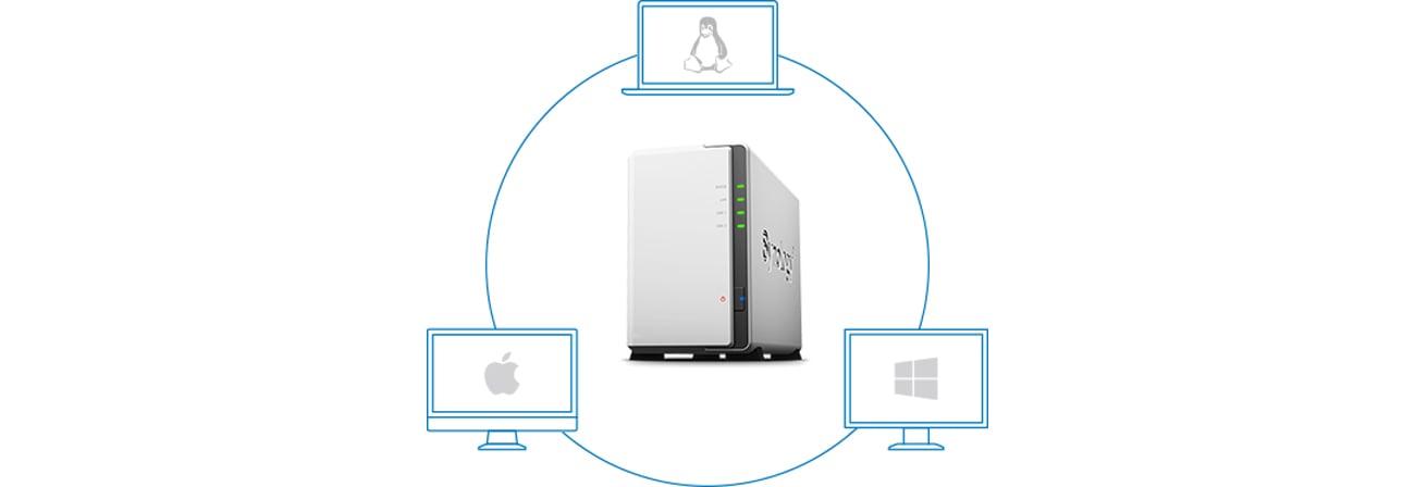Kompleksowa obsługa takich protokołów, jak FTP, SMB2, AFP, NFS i WebDAV