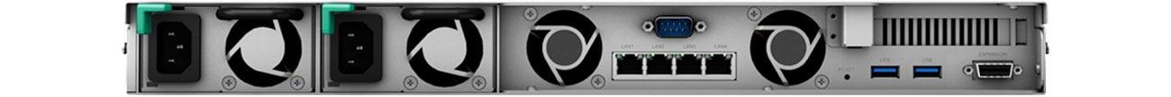 Synology RackStation RS1619xs+ Złącza, widok z tyłu