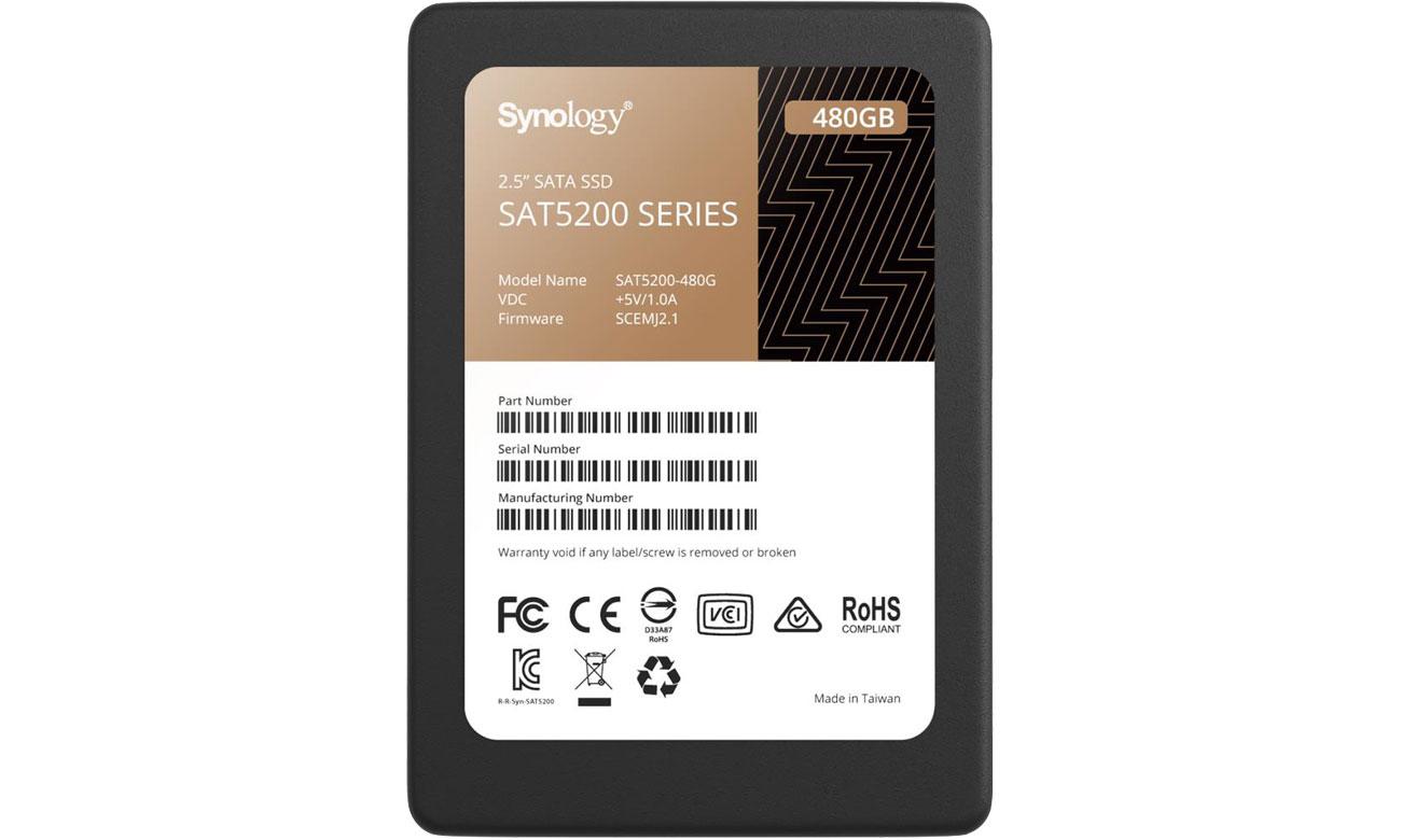 Dysk SSD Synology 480GB 2,5'' SATA SAT5200