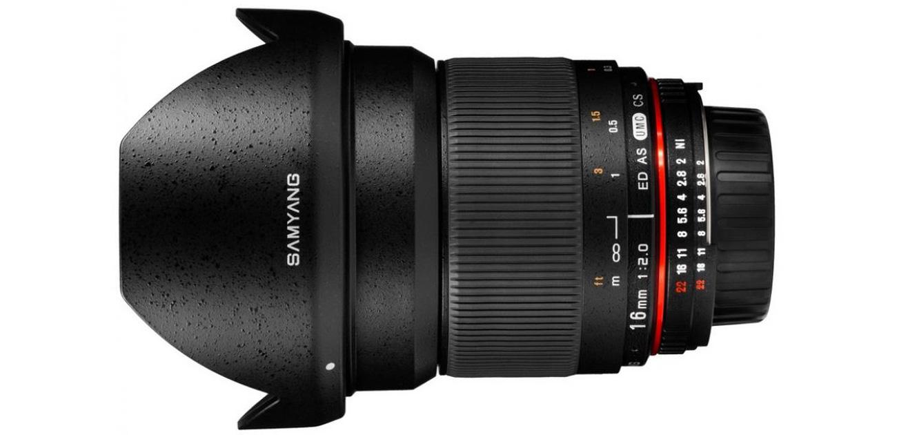 Obiektyw ultraszerokokątny Samyang 16mm f/2.0 ED AS UMC CS dla Nikon