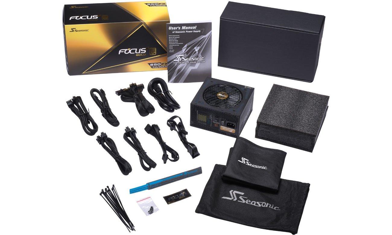 Zasilacz Seasonic 650W Focus Plus 80 Plus Gold BOX