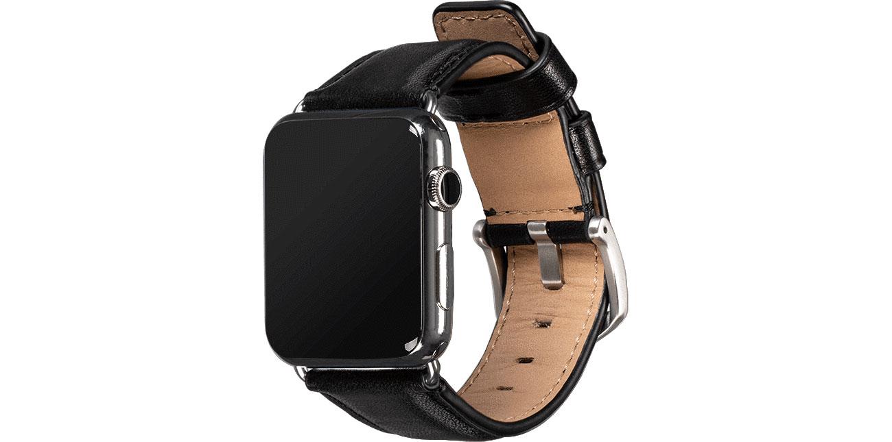 Sena Skórzany Pasek do Apple Watch 42/44mm czarny SXD013NPUS