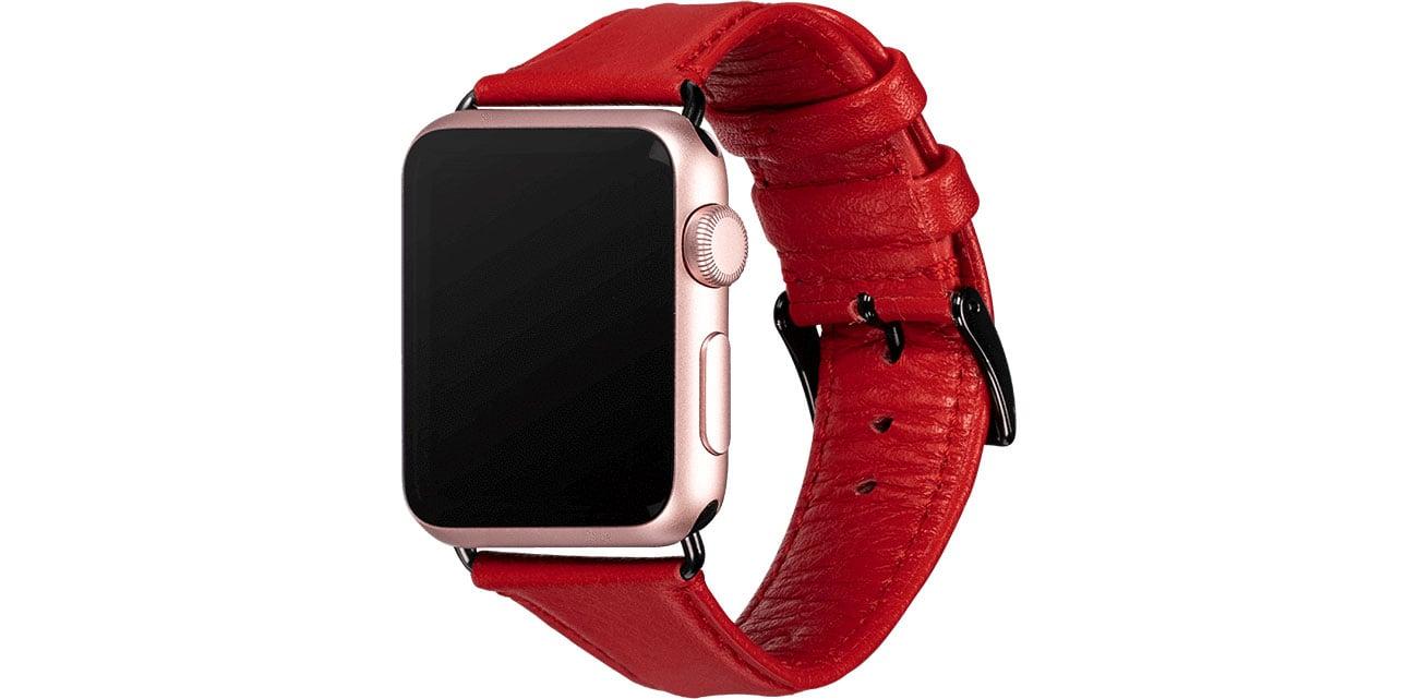 Sena Skórzany Pasek do Apple Watch 38/40mm czarny SXD014NPUS
