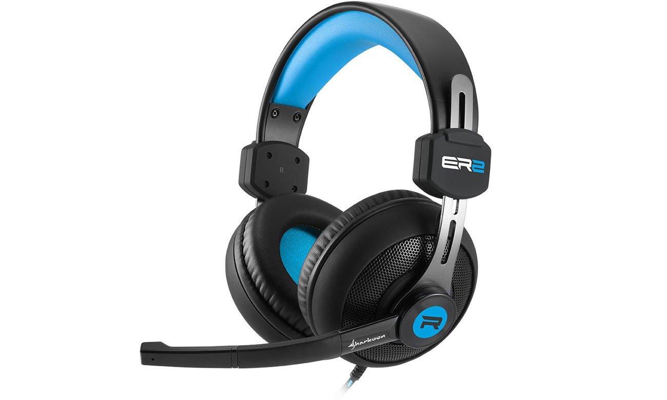 Słuchawki Sharkoon Rush ER2 czarno-niebieskie