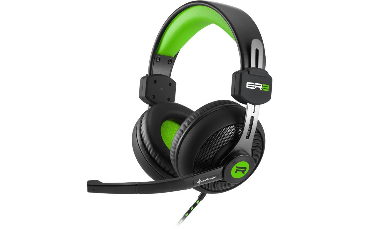 Słuchawki Sharkoon Rush ER2 czarno-zielone