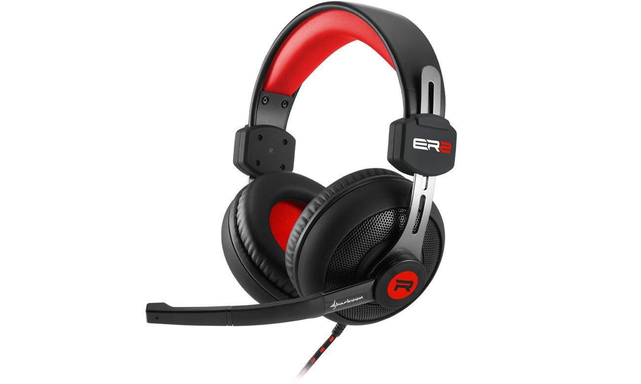 Słuchawki Sharkoon Rush ER2 czarno-czerwone