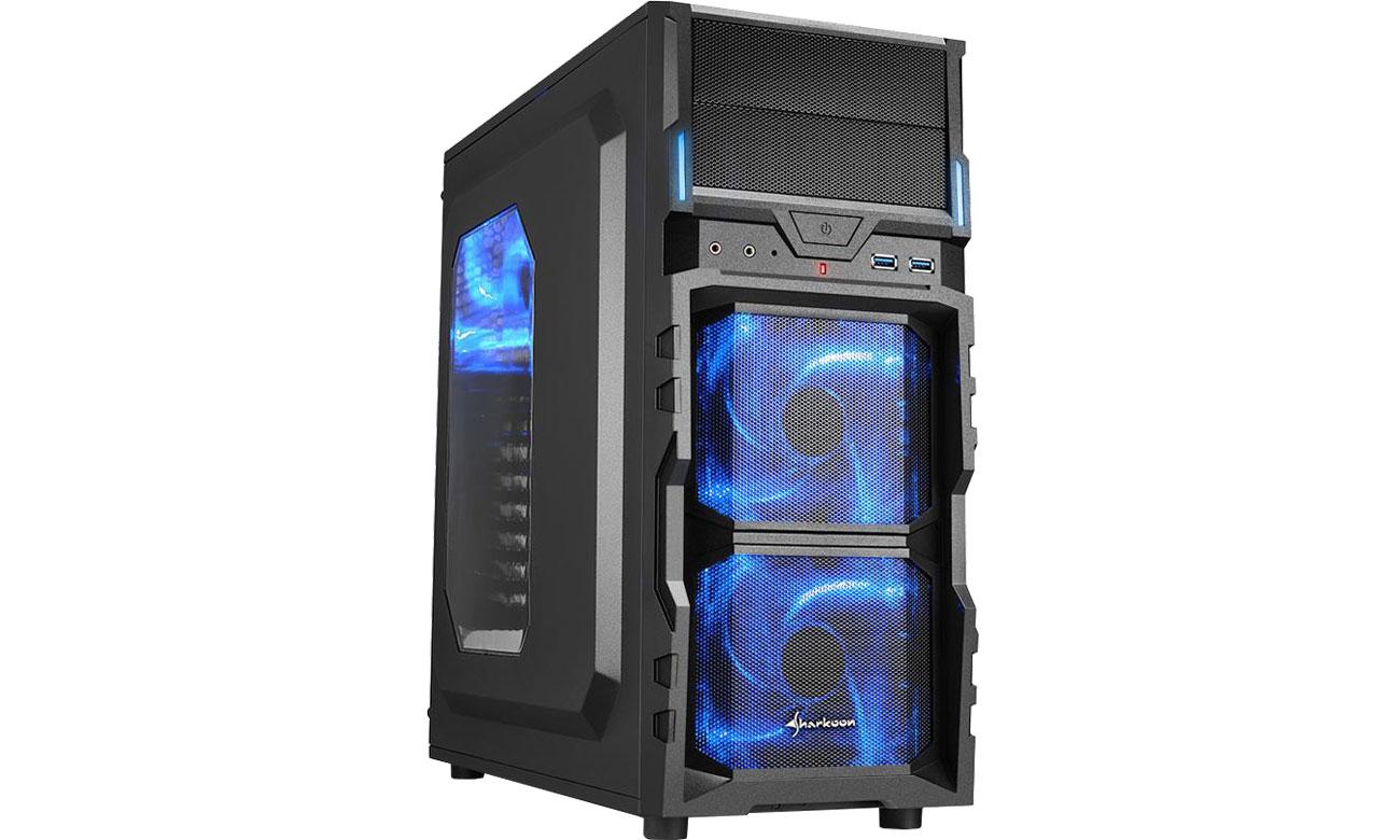 Obudowa do komputera Sharkoon VG5-W Blue 4044951017515
