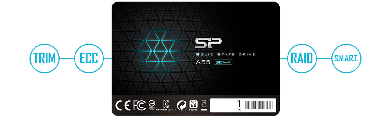 Silicon Power A55 SP001TBSS3A55S25 Technologie