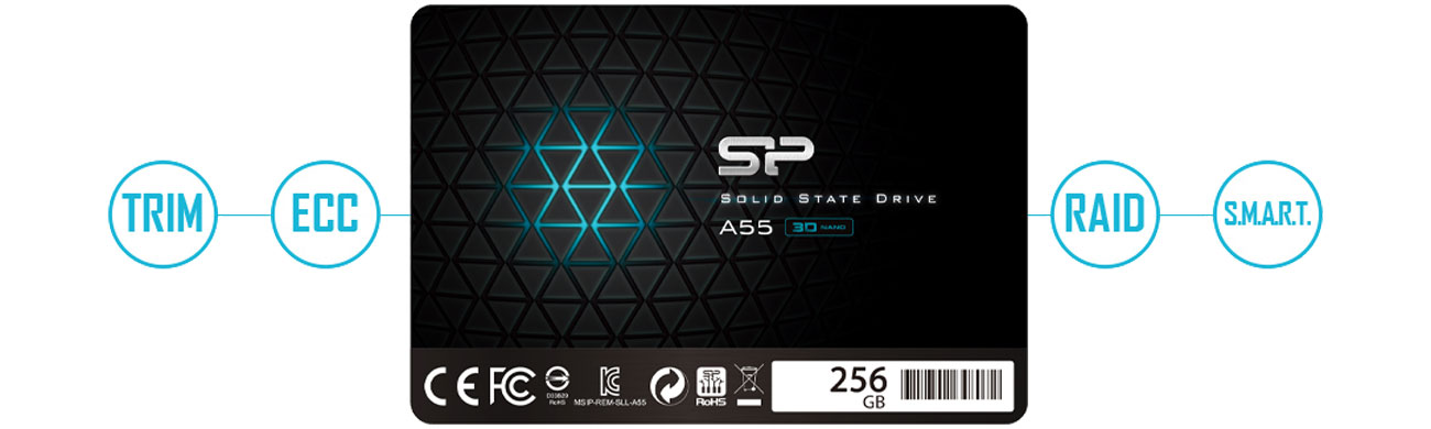 Silicon Power A55 SP256GBSS3A55S25 Technologie