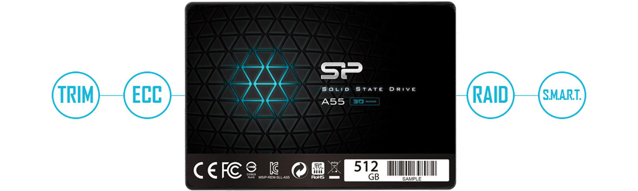 Silicon Power A55 SP512GBSS3A55S25 Technologie
