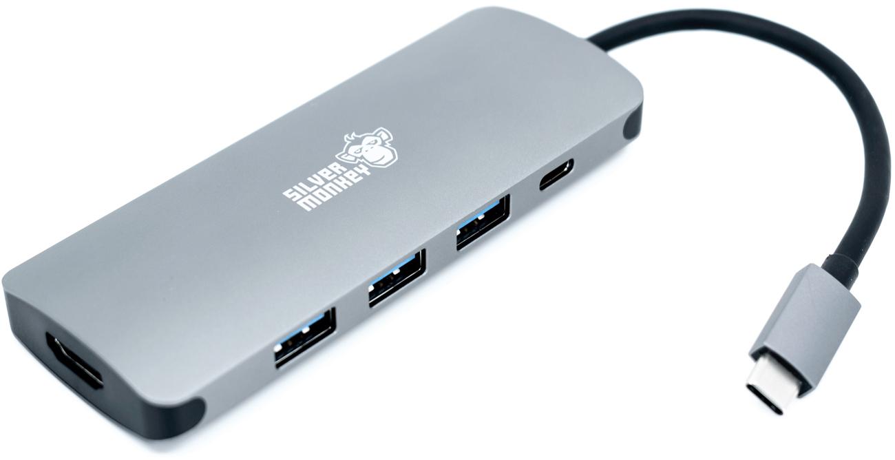 Przejściówka Silver Monkey USB-C do HDMI/USB 3.0 + Power Delivery