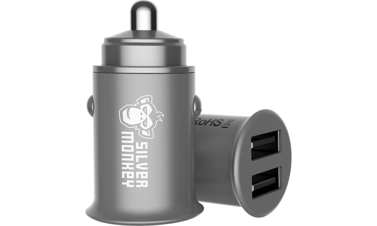 Ładowarka samochodowa Silver Monkey 2x USB