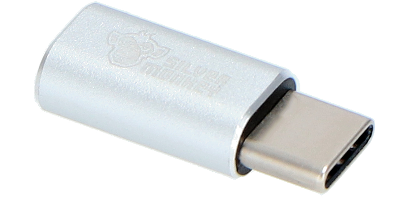 Przejściówka Silver Monkey micro USB - USB typ C