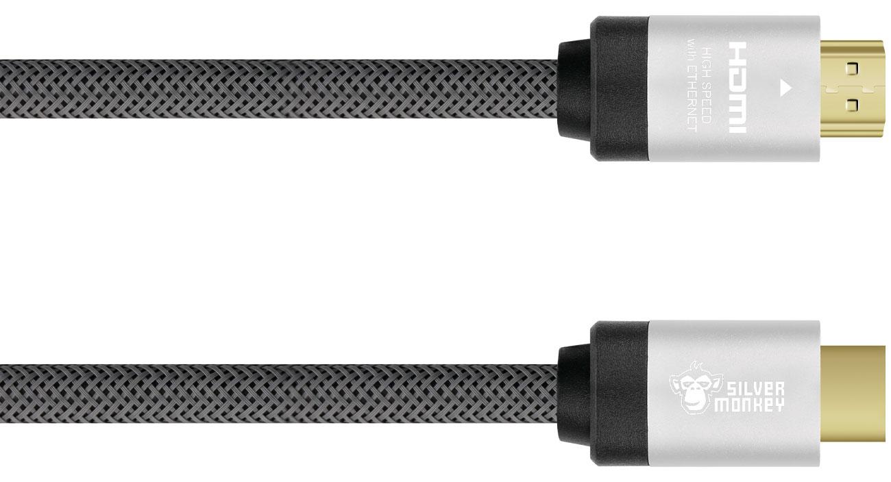 Kabel Silver Monkey HDMI 2.0 w oplocie 3 m