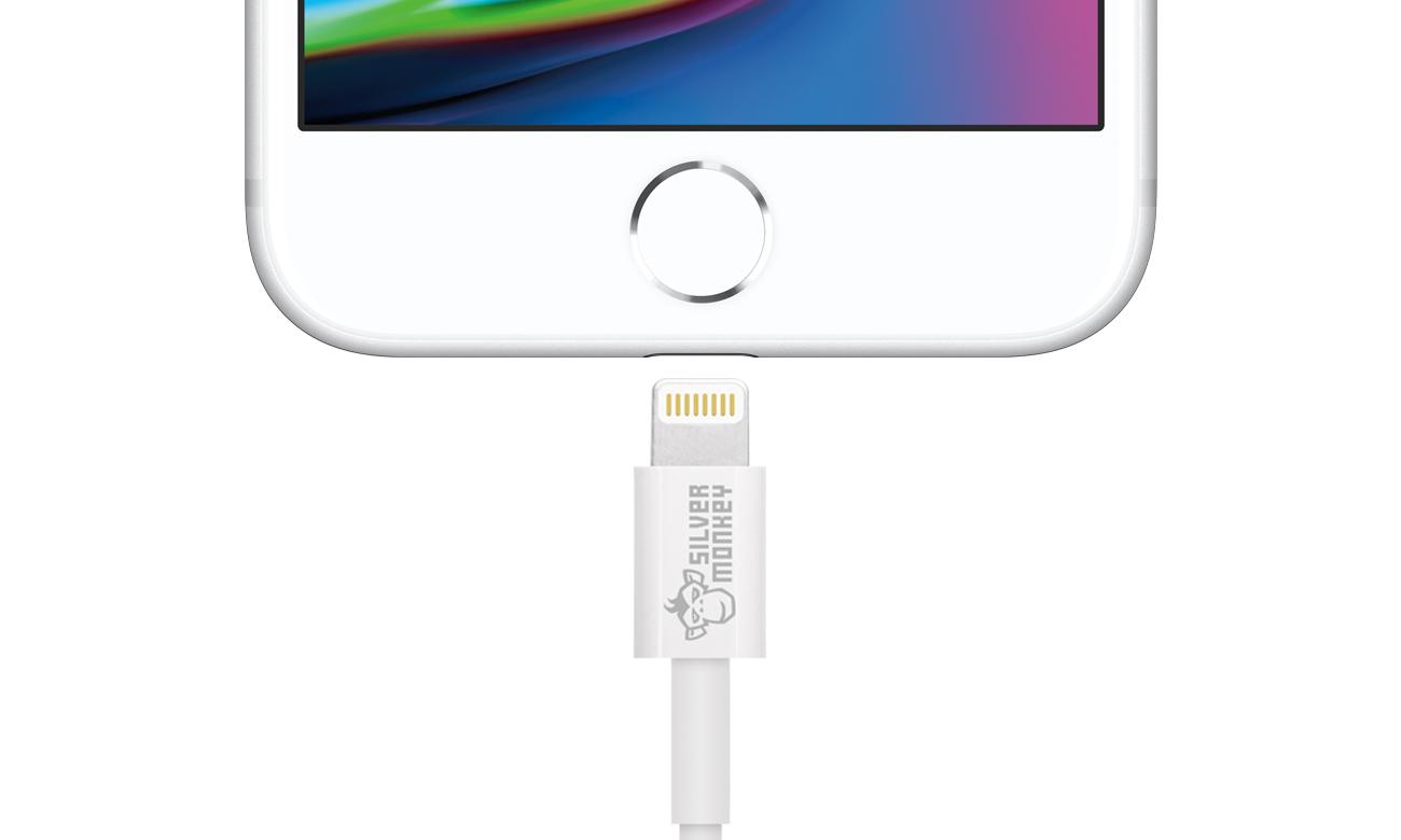 Silver Monkey Kabel Lighting MFI 1,2m kabel z telefonem