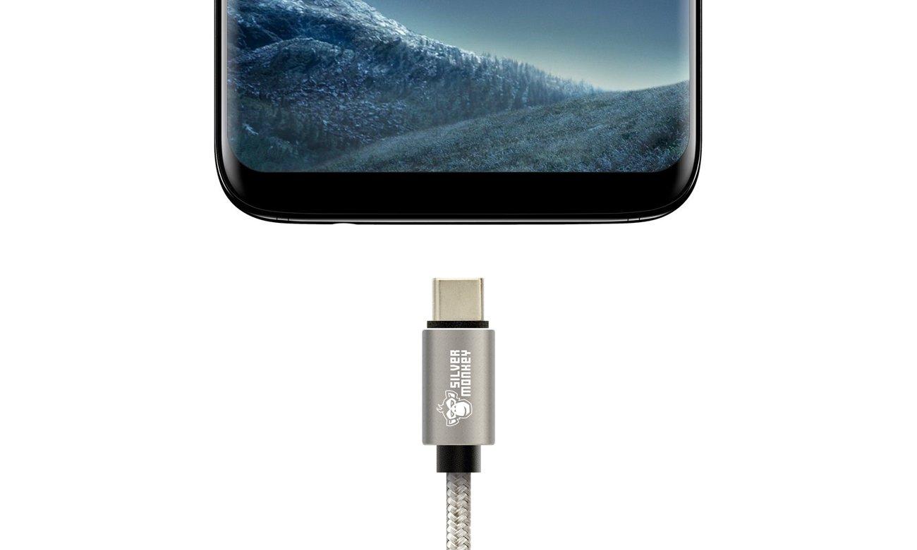 Silver Monkey Kabel Type-C USB 3.0 1,5m z telefonem