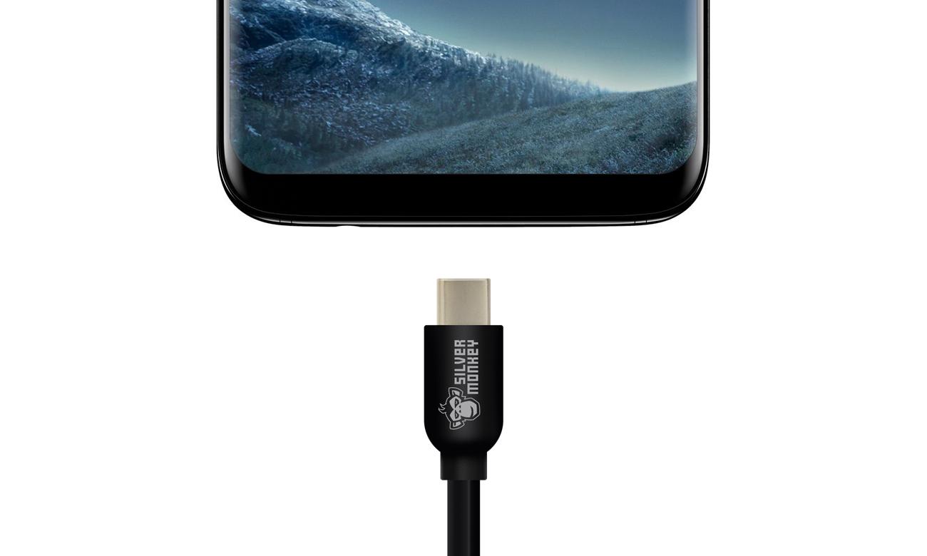 Silver Monkey Kabel Type-C USB 3.0 2m z telefonem