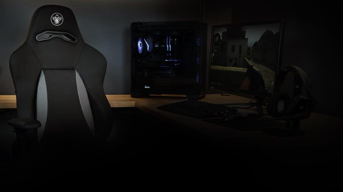 Polstergurte Stahlrahmen und Tragfähigkeit im Sessel SILVER MONKEY SMG-700 Elite Gaming Stuhl schwarz-weiß
