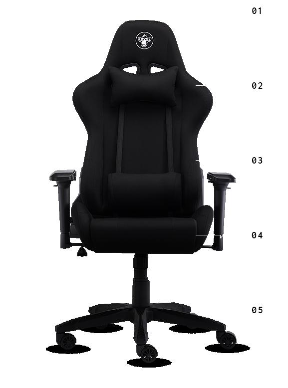 Silver Monkey Smg 550 Czarny Materiał Fotele Gamingowe