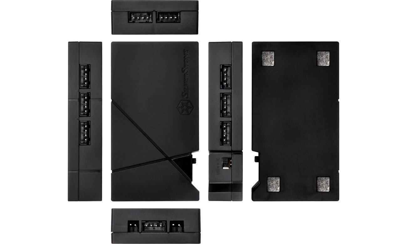 Kontroler SilverStone RGB-LED-Hub + 2xLED czarny SST-LSB01