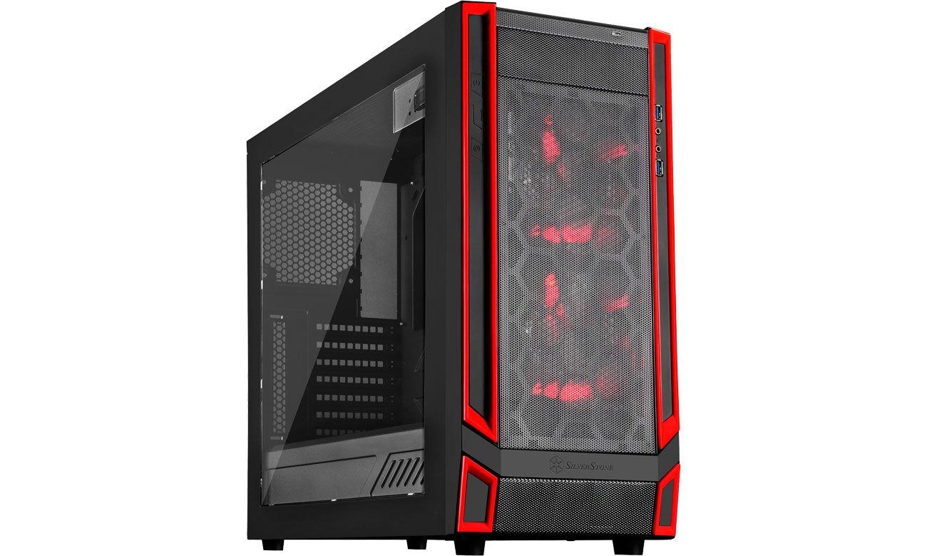 Obudowa do komputera SilverStone REDLINE RL05 z oknem SST-RL05BR-W