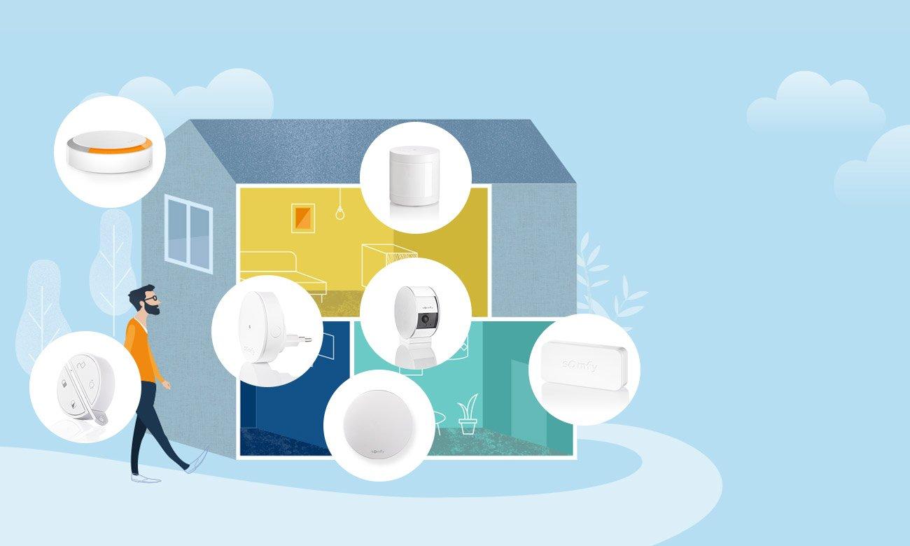 Somfy Home Alarm Zapobiegaj włamaniom zanim do nich dojdzie, IntelliTAG- czujnik wibracji i otwarcia