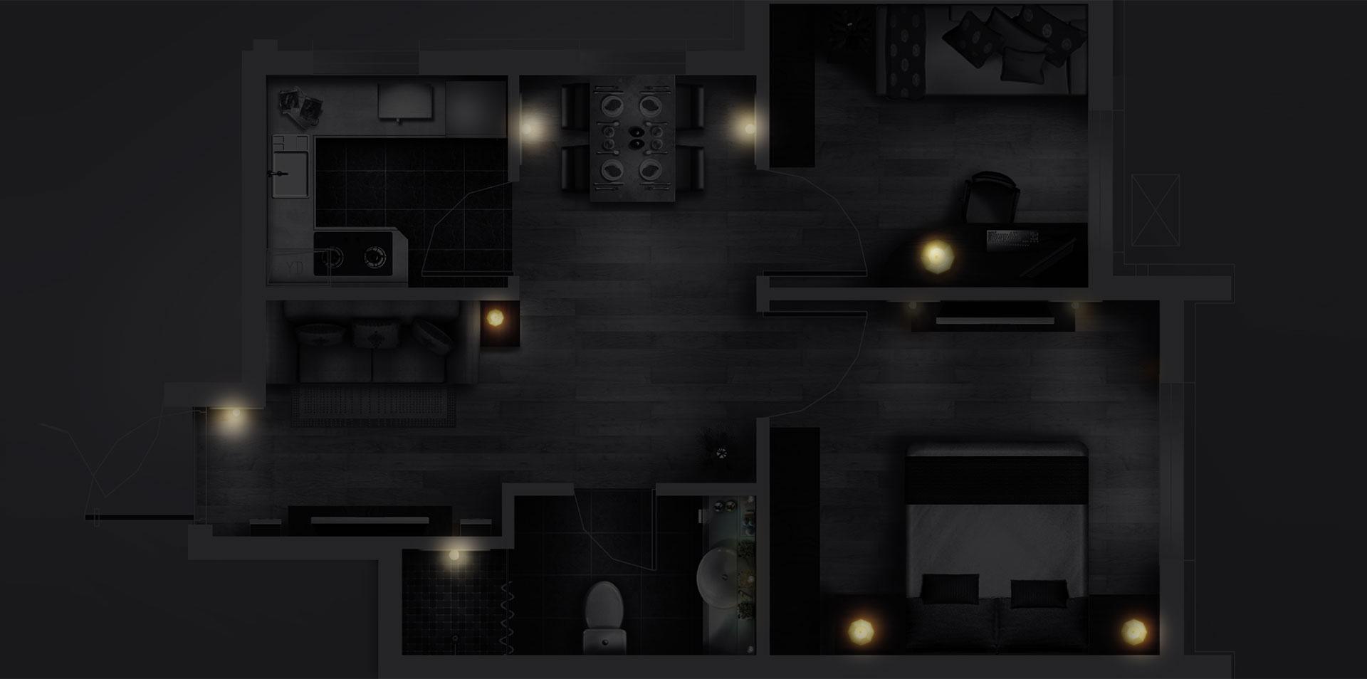 Infografika pomieszczenia w domu