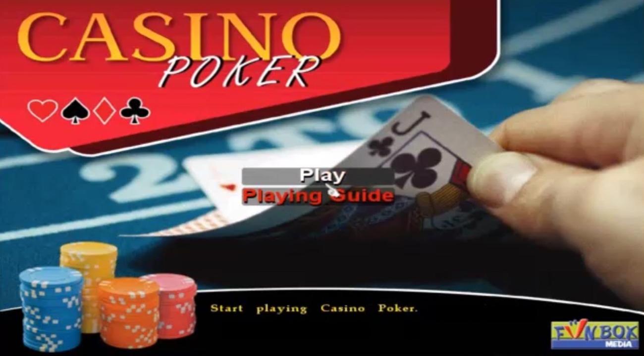 Casino Poker Ekran startowy