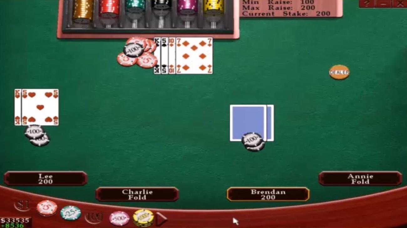 Casino Poker Widok stołu