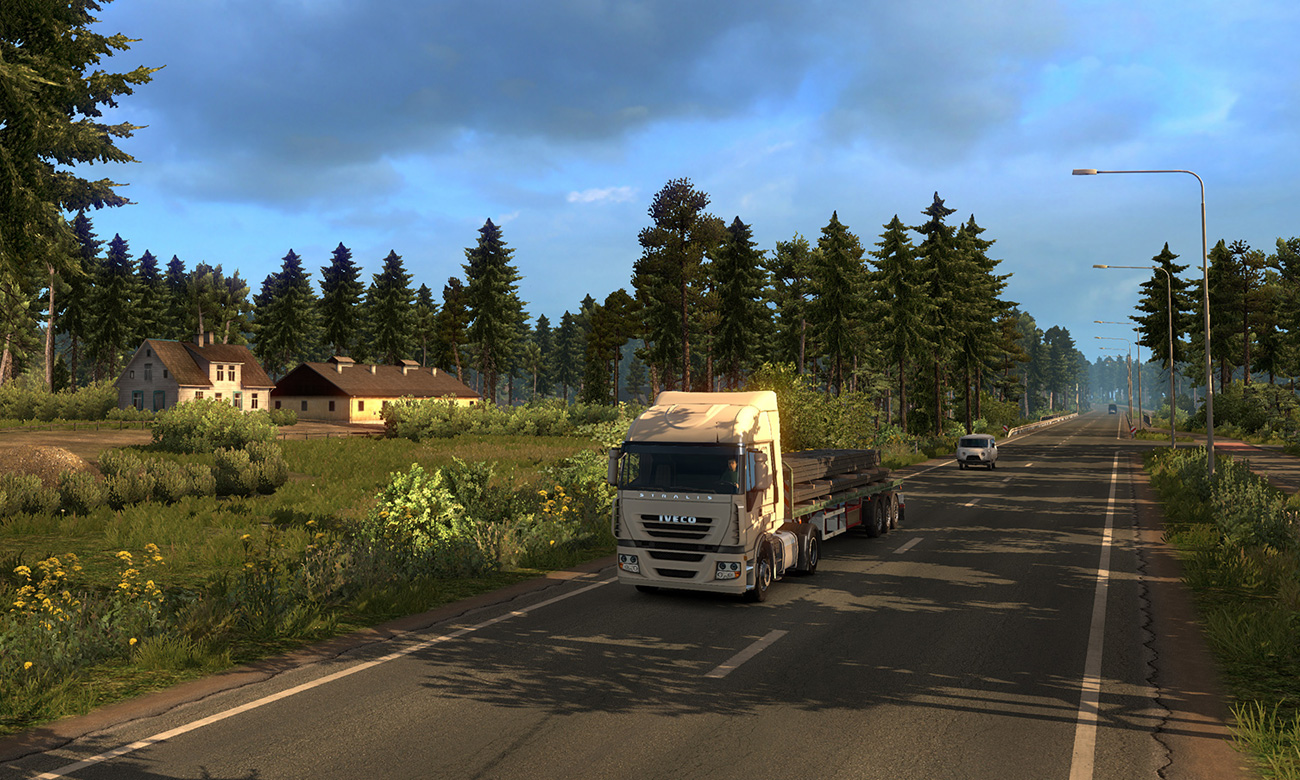 cdp euro truck simulator 2 beyond the baltic sea gry na. Black Bedroom Furniture Sets. Home Design Ideas