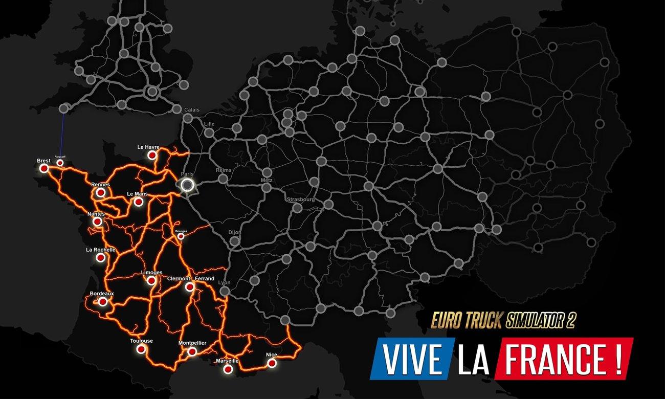 Euro Truck Simulator 2: Viva la France