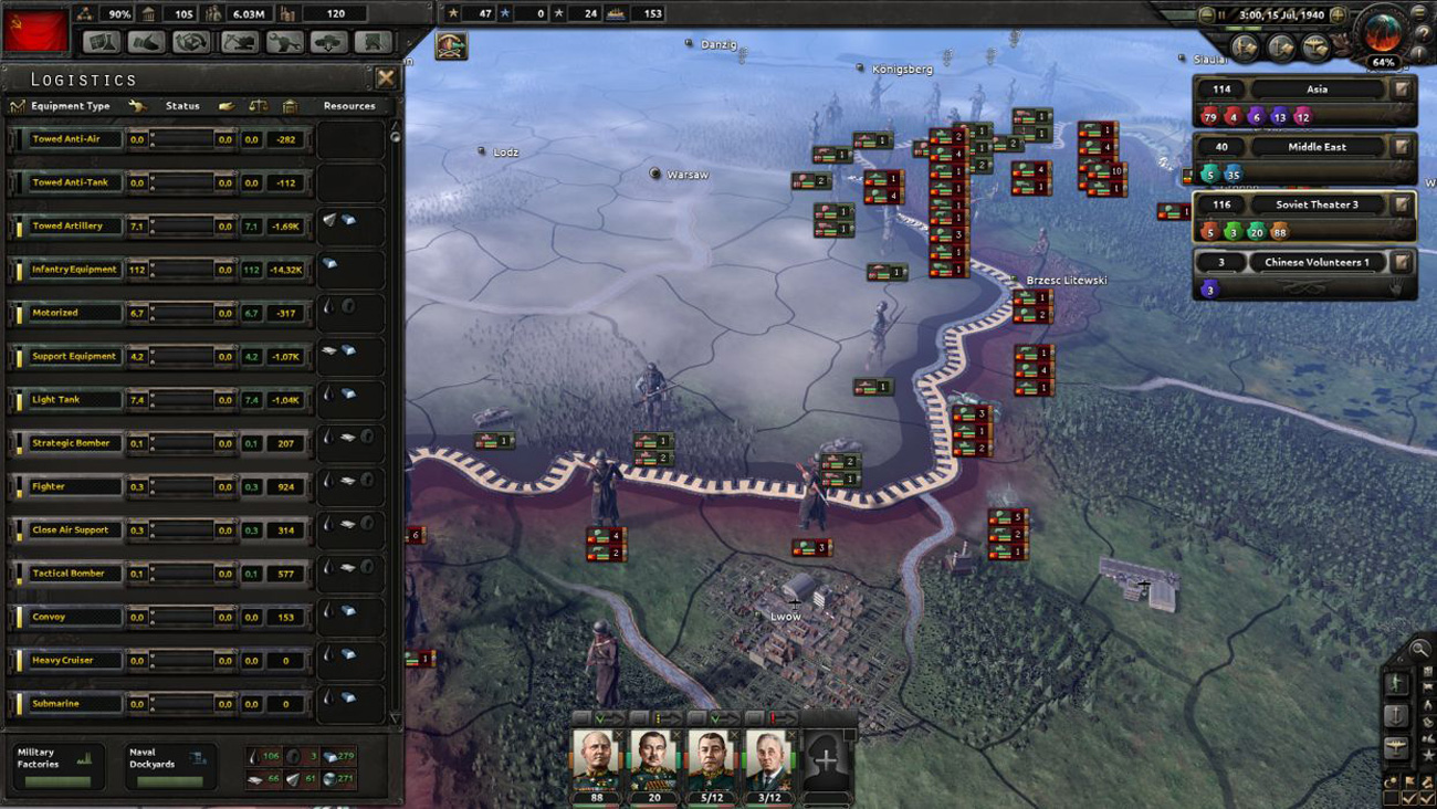 Hearts of Iron IV Cadet Edition Widok z gry