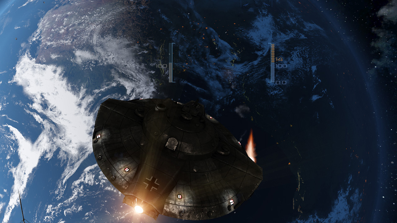 Iron Sky Invasion Meteorblitzkrieg Widok z gry