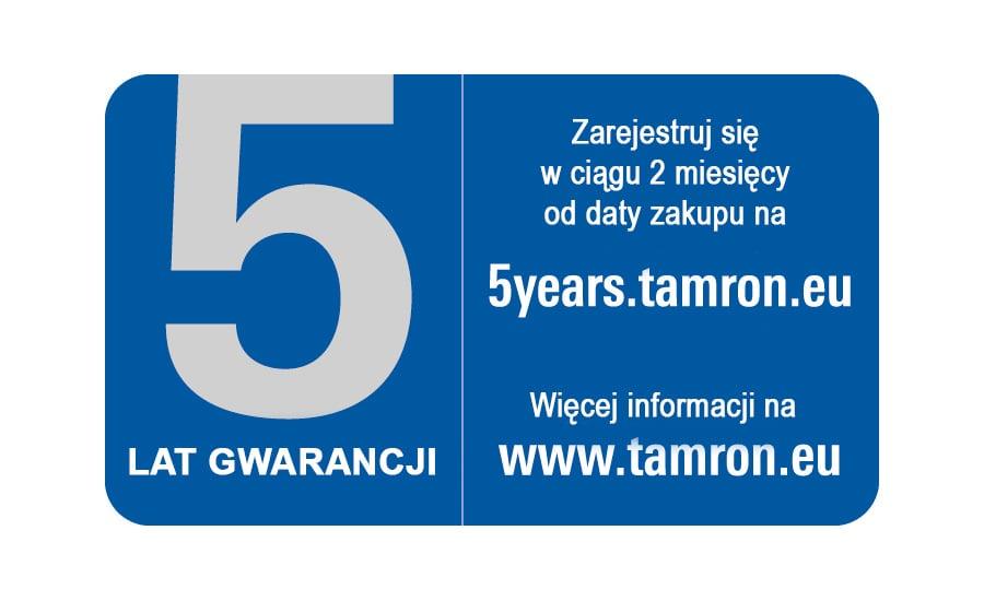 Tamron 5 lat gwarancji