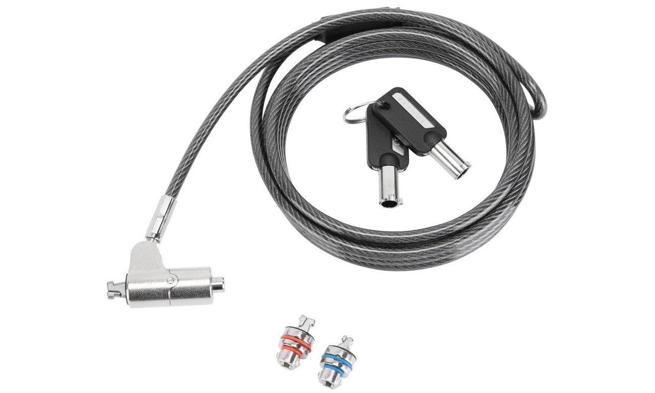 Linka zabezpieczająca Targus Defcon 3-in-1 Keyed Cable Lock