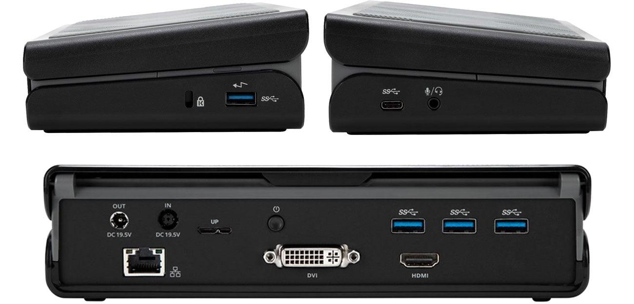 Targus Universal USB-A 3.0 DV DOCK171EUZ Złącza i porty