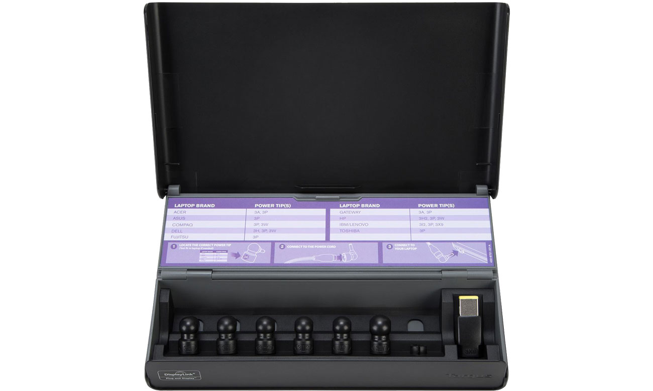 Targus Universal USB-A 3.0 DV DOCK171EUZ Wymienne końcówki ładowarki