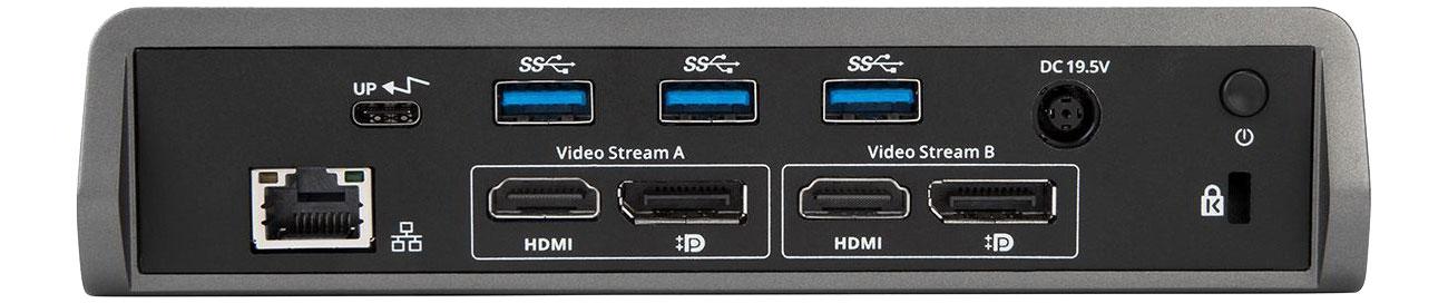 Targus USB-C DV4K DOCK180EUZ Widok złączy HDMI, DisplayPort