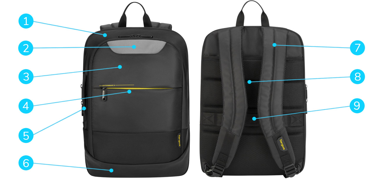 Kluczowe cechy plecaka Targus CityGear 3