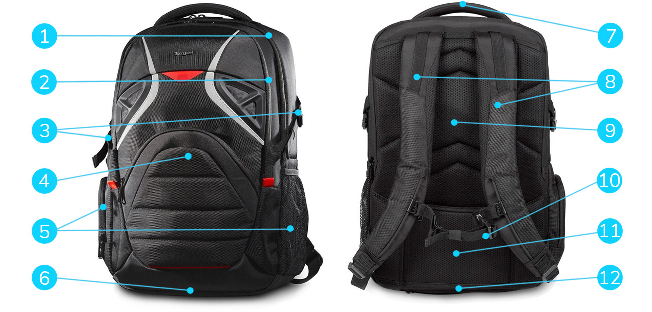 Targus Strike Gaming Laptop Backpack