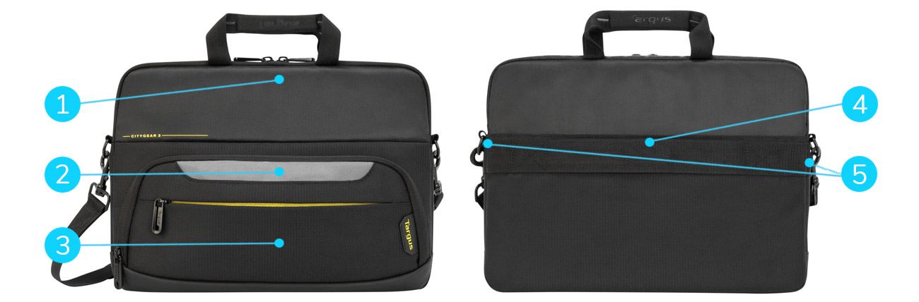 Kluczowe cechy torby Targus City Gear 12-14'' Slim