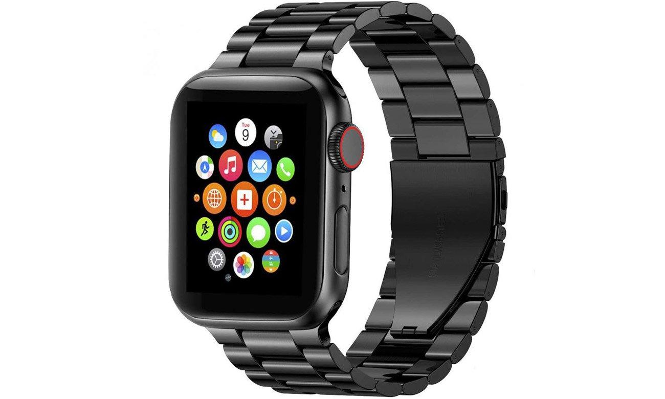 Bransoleta panelowa Tech-Protect Stainless Czarna do Apple Watch 42-44mm