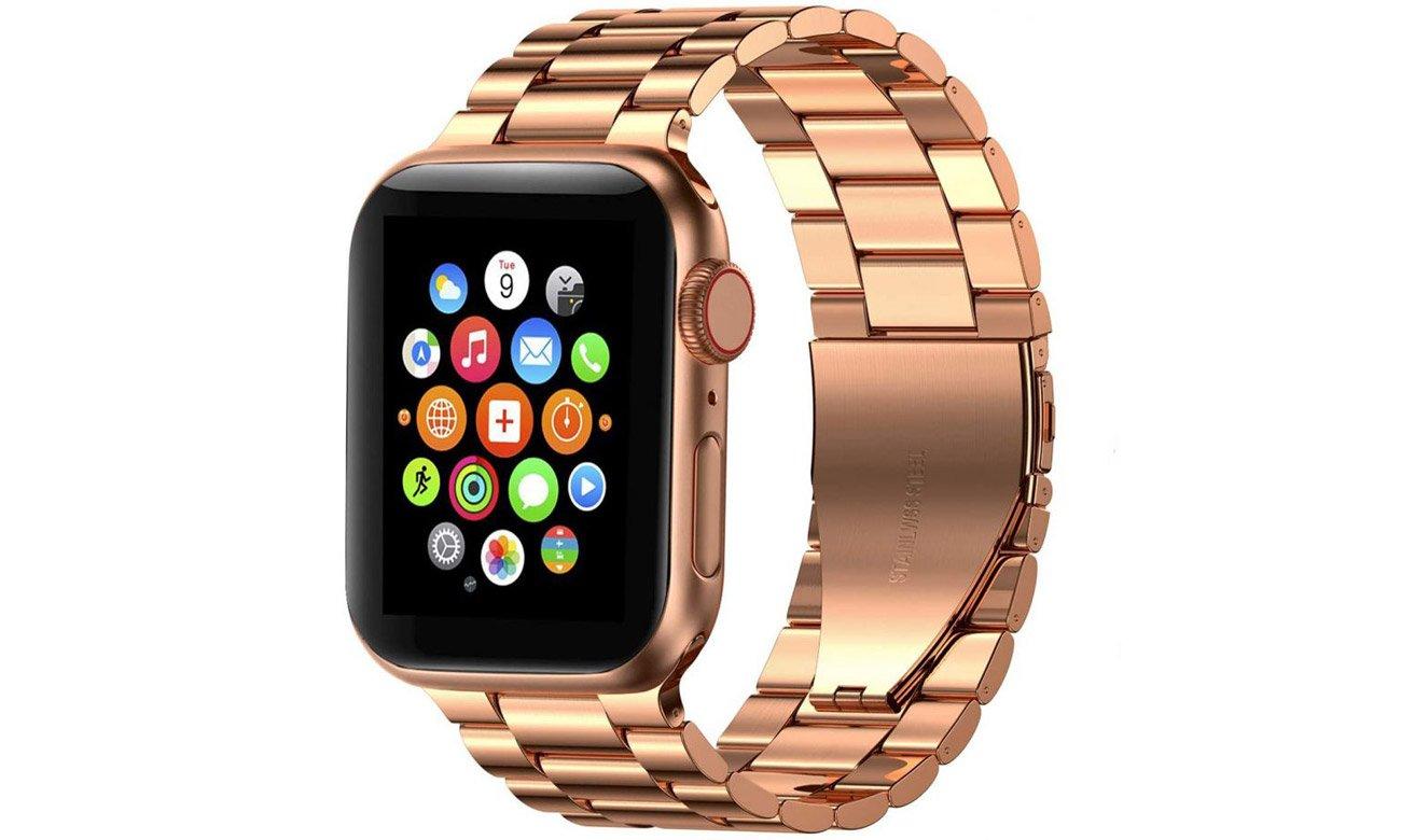 Bransoleta panelowa Tech-Protect Stainless Rose Gold do Apple Watch 42-44mm