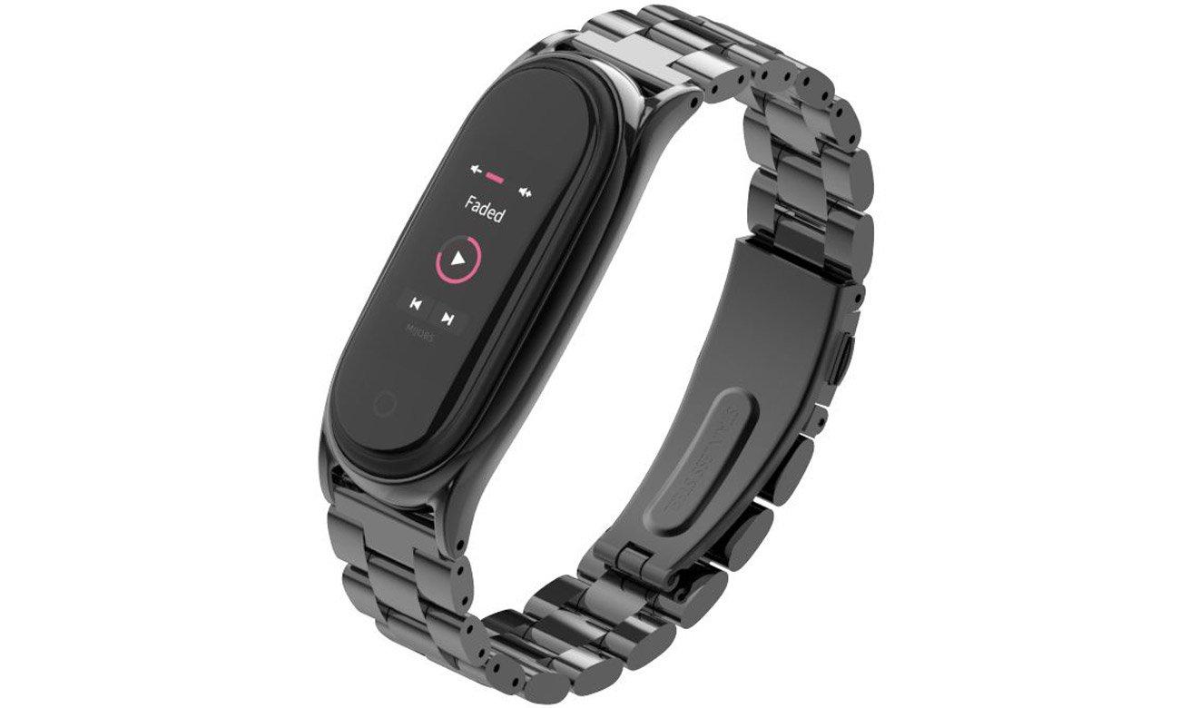 Bransoleta panelowa Tech-Protect Stainless Czarna do Xiaomi Mi Band 5