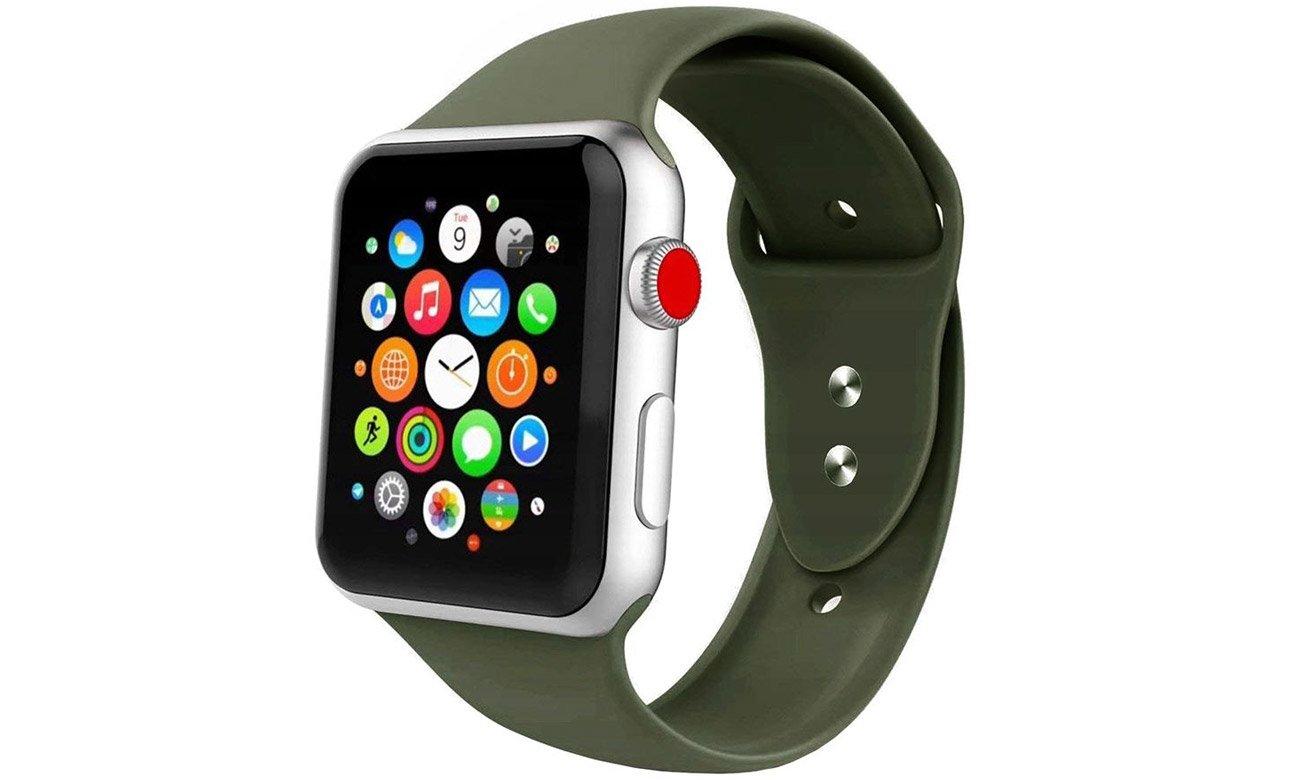 Gumowy pasek Tech-Protect Iconband Zielony do Apple Watch 38-40mm