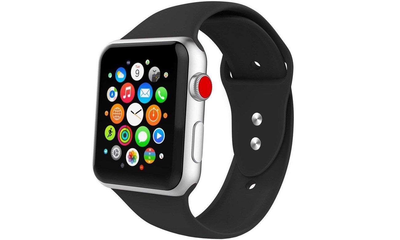 Gumowy pasek Tech-Protect Iconband Czarny do Apple Watch 38-40mm