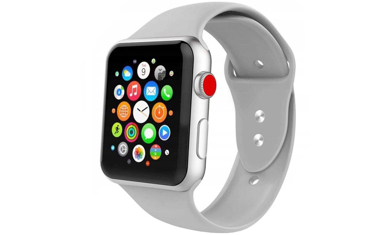 Gumowy pasek Tech-Protect Iconband Szary do Apple Watch 42-44mm