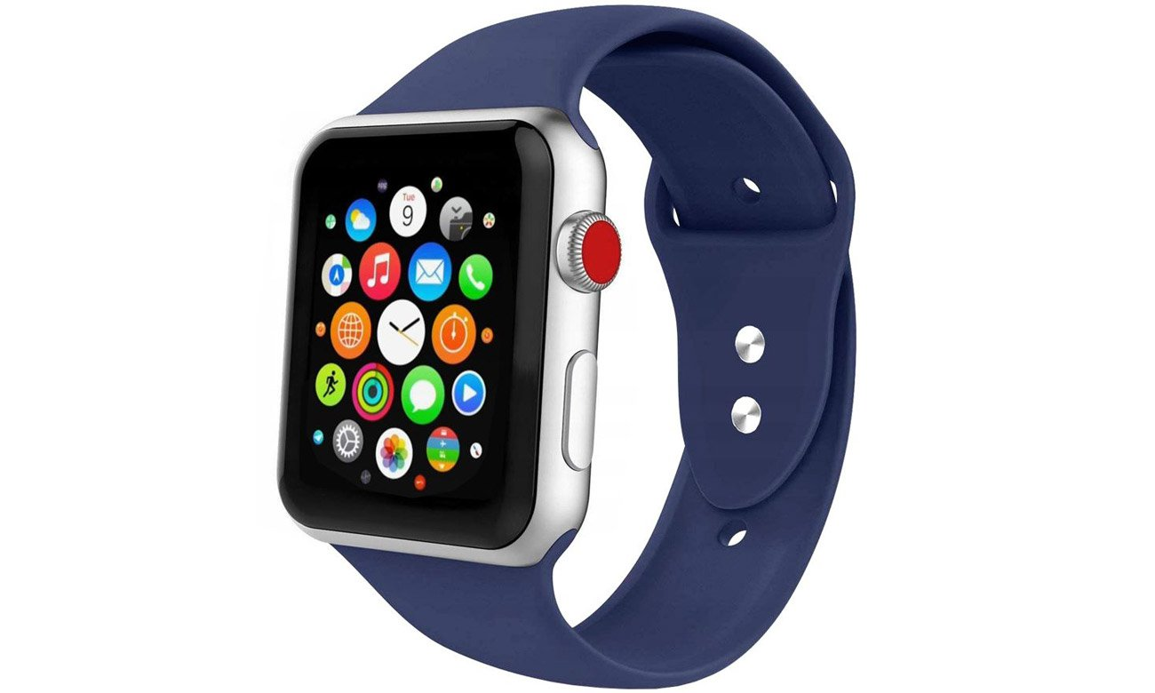 Gumowy pasek Tech-Protect Iconband Midnight Blue do Apple Watch 42-44mm