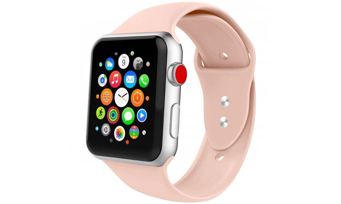 Gumowy pasek Tech-Protect Iconband Pink Sand do Apple Watch 38-40mm